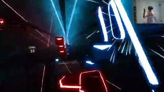 Beat Saber VR - Through The Fire and Flames - Completed Expert!