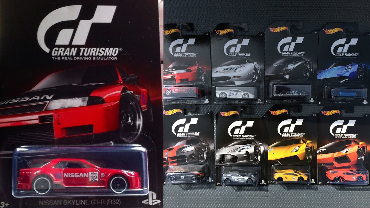 Hot Wheels Gran Turismo 8-Car set, Nissan Skyline, Jaguar ...