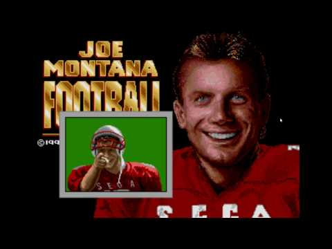 Joe Montana Football for the Sega Genesis - 1990