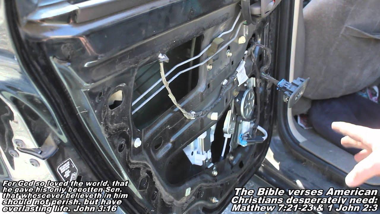 Rear Window Regulator w Motor Remove & Replace