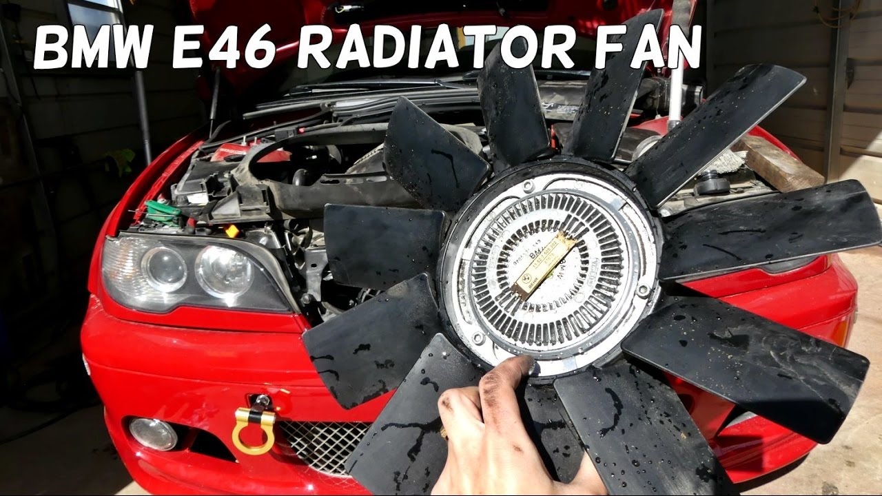 How to remove replace clutch radiator fan on bmw e46 325i 323i 328i 330i