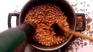 Обжарка кофе феном