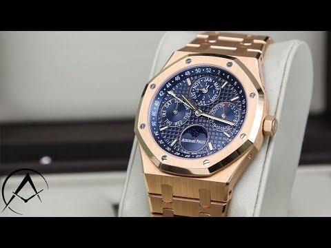 2018 Unboxing:Audemars Piguet Royal Oak Perpetual Calendar Moonphase 26574OR.OO.02