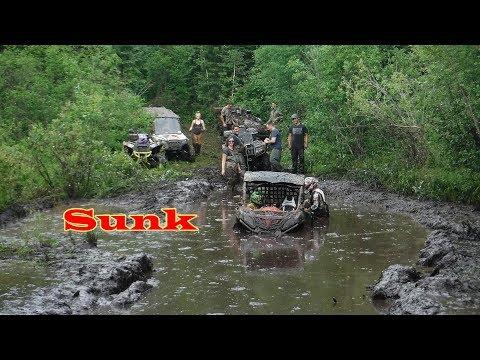 Swamped SxS Stucks Breakdowns Crazy ATV UTV Poker ride Mud continues thumbnail