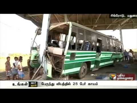 25 injured in bus accident in Madurai Ring Road