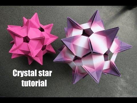 crystal star - kusudama - Denver Lawson - tutorial - dutchpapergirl