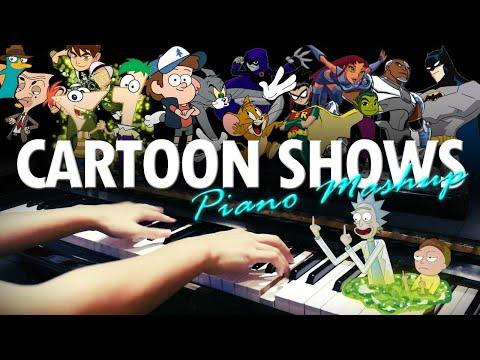 Cartoon Show Music Epic Piano Mashup/Medley (Piano Cover)+SHEETS\u0026MIDI
