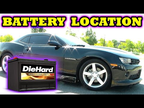 2010-2015 Chevrolet Camaro battery location