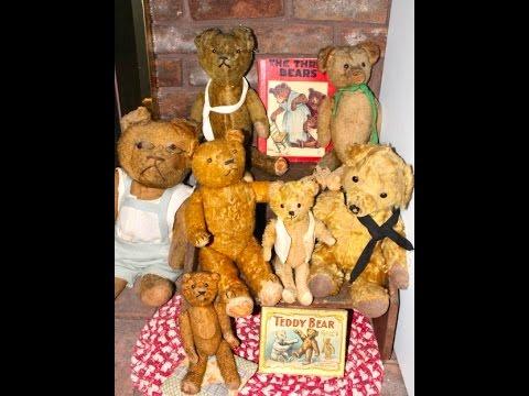 Antique Teddy Bear Collection by Dealer Deanna Moyers