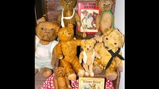 Antique Teddy Bear Collection by Dealer Deanna Moyers