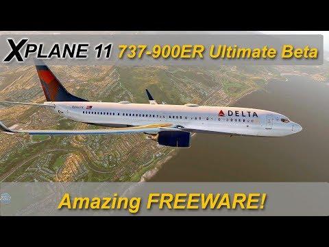 X-plane 11: NEW Boeing 737-900ER Ultimate beta test  - FREEWARE