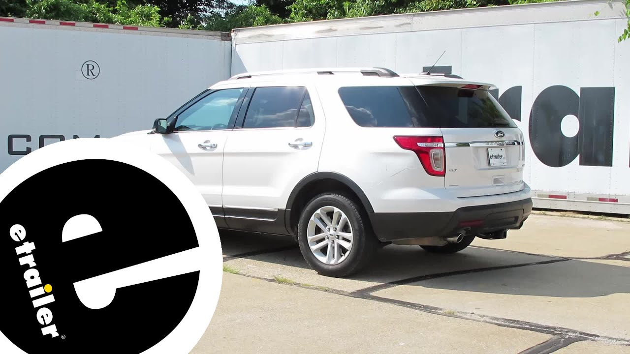 2014 Ford Explorer Towing Capacity >> Trailer Hitch Installation 2014 Ford Explorer Draw Tite