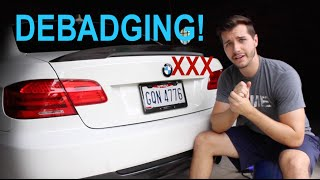 How To DEBADGE Your Car: Debadging My BMW 335i
