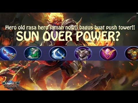 Mobile Legends Indonesia #2 Sun GamePlay SEMI TANK !!Push Tower & War EZ WIN Rank