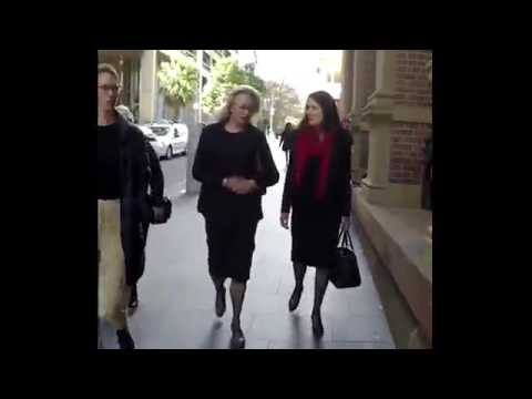 Jill Wran arrives at the NSW Supreme Court in Sydney