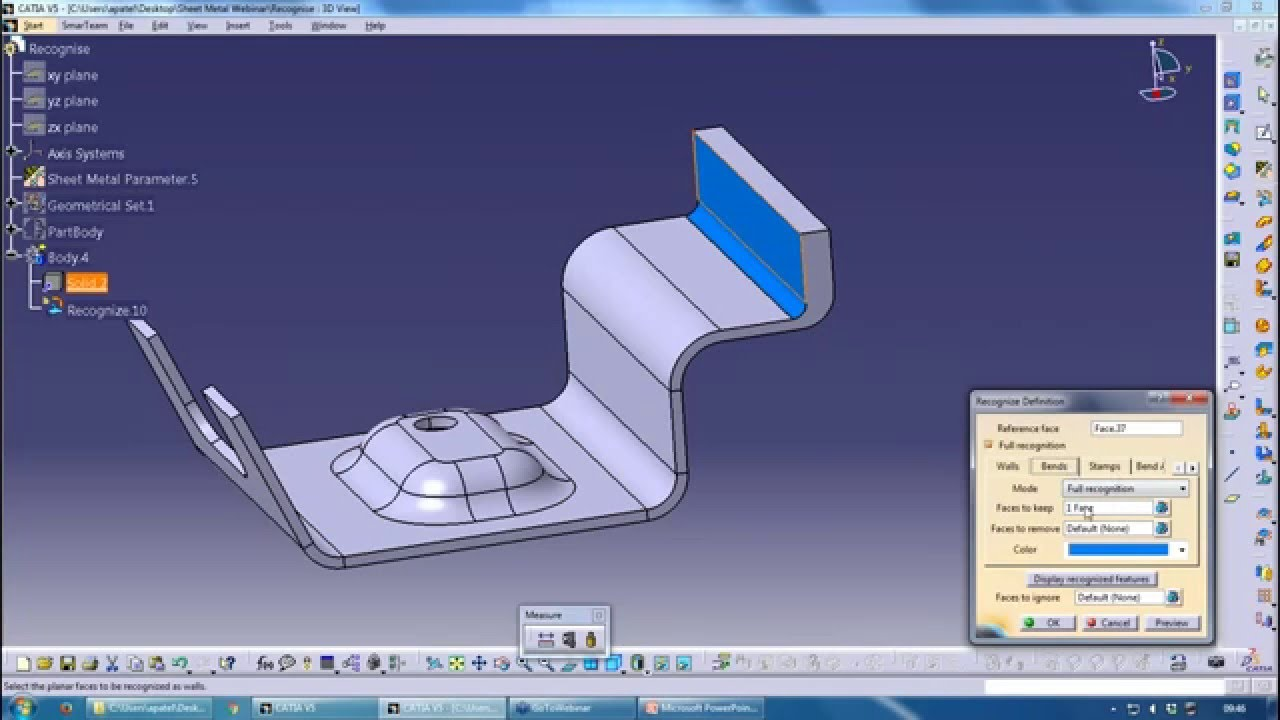 Webinar Recording Catia Sheet Metal Hints Amp Tips Youtube