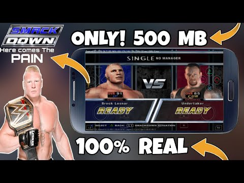 [500 MB] Download WWE SmackDown Pain On Android | Ps2 Emulator | 100% Real