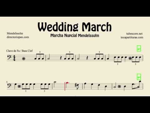 Mendelssohn Wedding March Sheet Music for trombone tube cello basson and euphonium