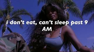 sza - broken clocks // lyrics