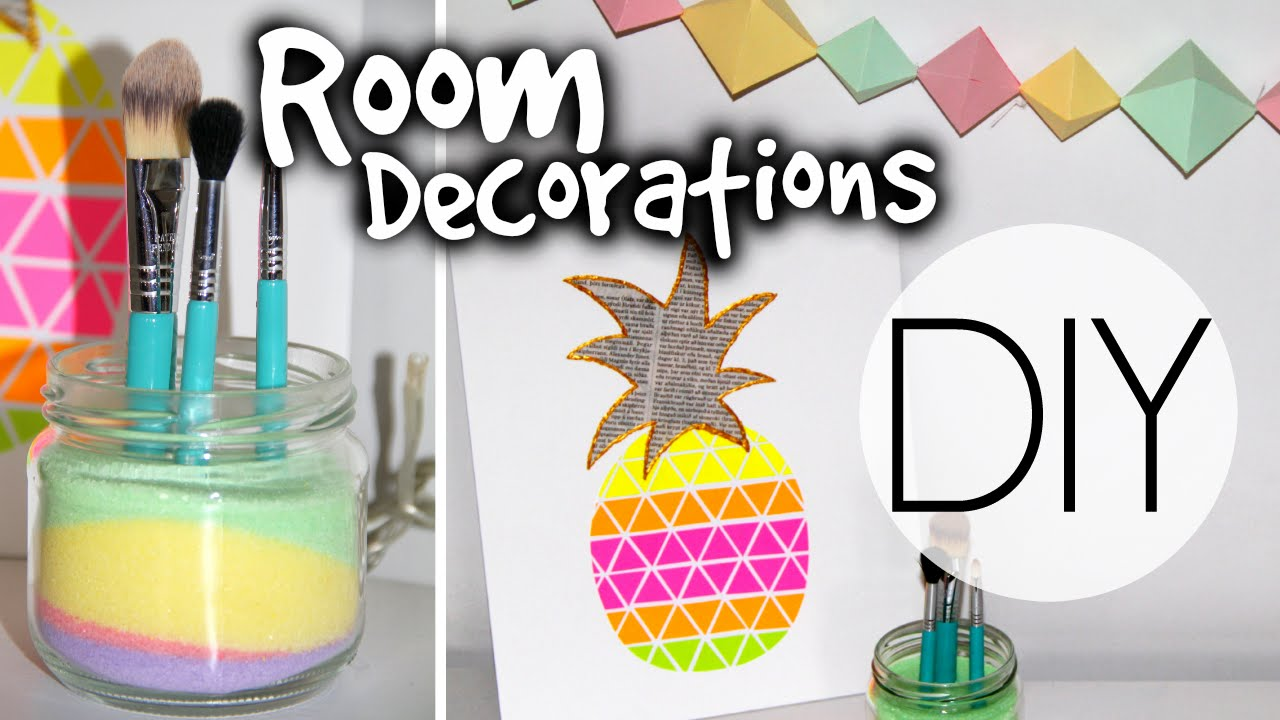 Diy summer room decorations youtube for Room decor ideas summer