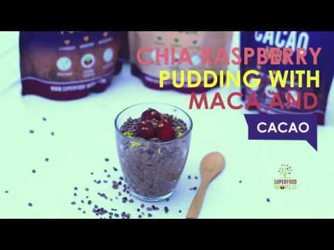 Chia Raspberry Pudding with Maca & Cacao Recipe - Superfood World