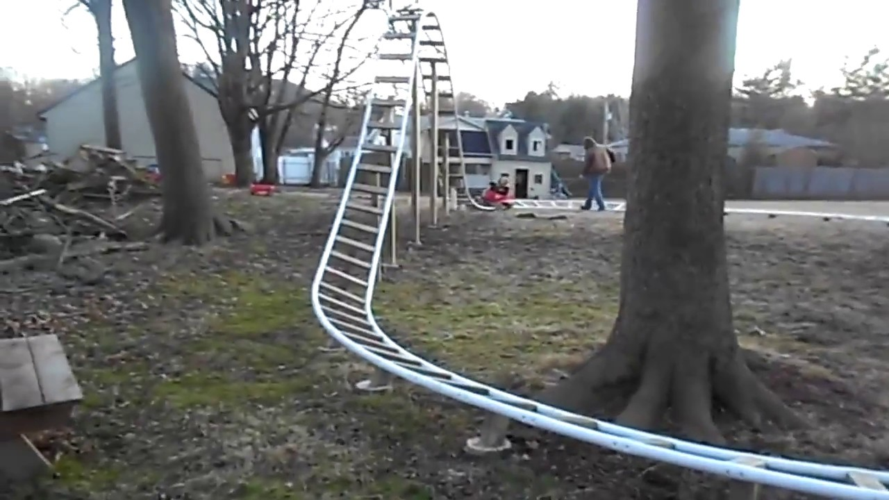 Home Made Backyard Roller Coasters