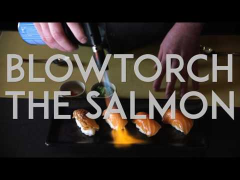 Chino Latino's Japanese Kitchen - Blowtorch Salmon Nigiri