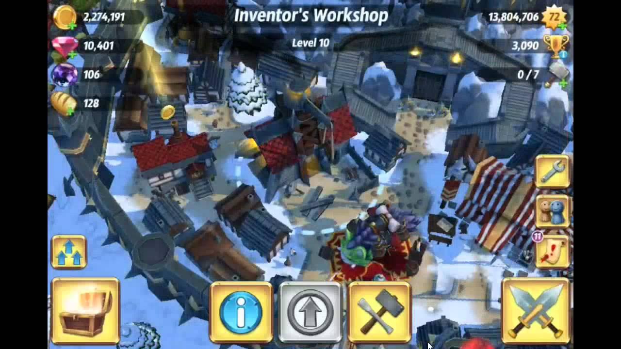 Royal Revolt 2 Max level tavern lv13 and castle gate lv 12 ...