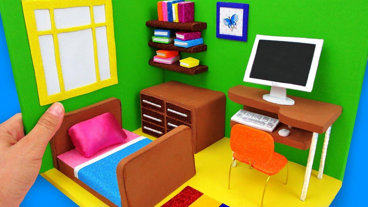 DIY MINIATURE CARDBOARD HOUSE ~ CLASSIC BEDROOM DECOR