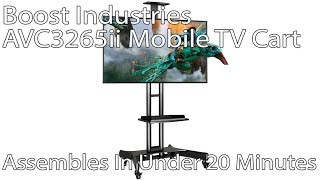 "Assembly Video: Boost Industries AVC3265ii Mobile TV Cart on Wheels Support 32""~65""/100lbs."
