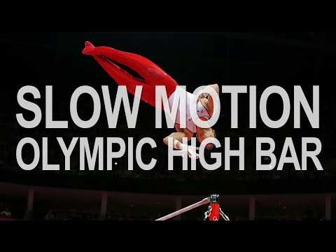 Slow Motion Olympic High Bar - Animation Reference