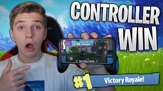 GETTING A WIN ON FORTNITE MOBILE WITH A CONTROLLER!! (Fortnite iOS Season 4)