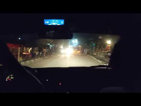 Madagascar. Driving in town Mahajanga at night