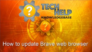 How to update Brave web browser