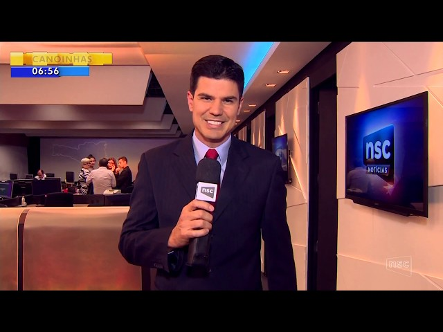 Bastidores do RBS e NSC Notícias e convite para estreia - Bom Dia SC - 16/08/2017 (HD)