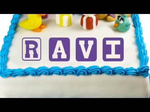 Birthday Cake Image Ravi : Happy Birthday Ravi - YouTube