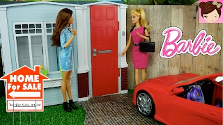 Video Barbie House  Tour - Totally Real DollHouse  Playset  - Decorating DollHouse with Furniture download MP3, 3GP, MP4, WEBM, AVI, FLV April 2018