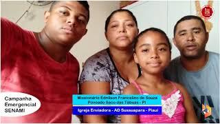 Missionários agradecem o apoio da SENAMI