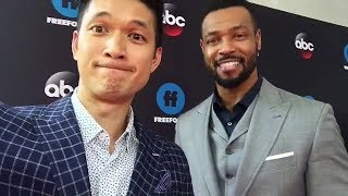 "Harry Shum Jr. &  Isaiah Mustafa are at the ""Freeform Upfront"""