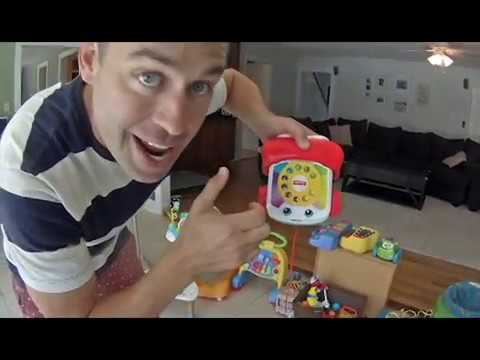 "Krazy Kev Episode 1 - ""Mystery Box of Toys"" and ""Tater Tot"" the Dog  (for toddlers)"