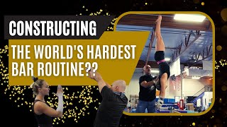 Building the hardest uneven bars routine in the world | Mykayla Skinner