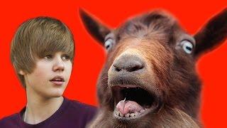 JUSTIN BIEBER BECAME A GOAT | Goat Simulator Gameplay (DOGE ARMY / DOGE MEME)
