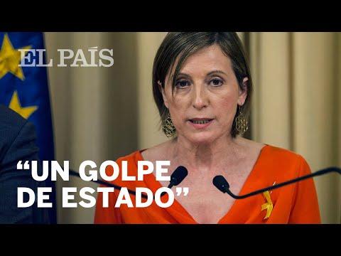 "Forcadell: ""Rajoy ha anunciado un golpe de estado 'de facto'""   Cataluña"