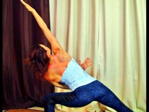30 Minute Full Body Vinyasa Flow Detox Standing Twists Ab workout Level 2