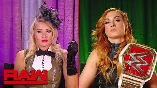 Becky Lynch and Lacey Evans interview gets heated Raw June 10 2019