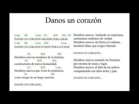 Danos Un Corazon Con Letra Y Acordes En Lam Youtube