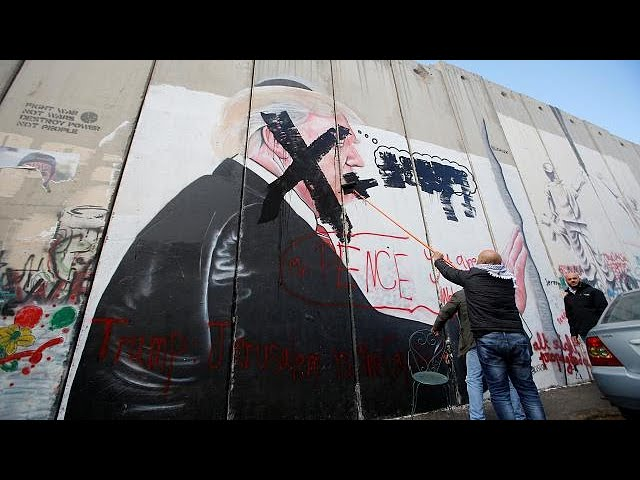 Strike across West Bank after Trump's Jerusalem move