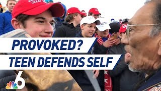 MAGA Hat Teen Defends Himself After Confrontation With Native American, Racism Accusations | NBC 6