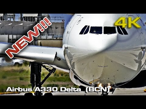 Airbus A330 Delta Airlines (BCN) [4K]