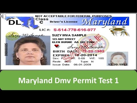 Maryland DMV Permit Test 1